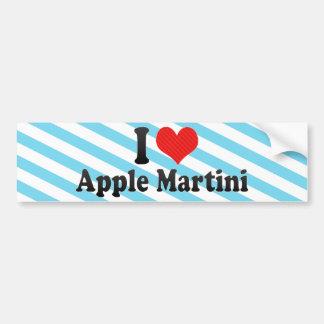 Yo amor Apple Martini Pegatina De Parachoque
