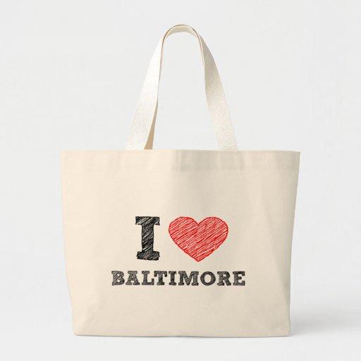 Yo-Amor-Baltimore Bolsa Tela Grande