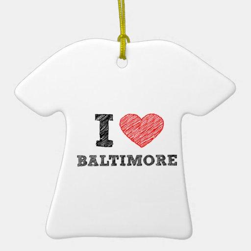 Yo-Amor-Baltimore Adorno De Cerámica En Forma De Playera