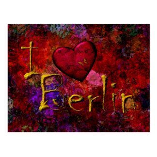 Yo amor Berlín Tarjeta Postal
