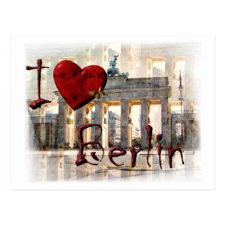 Yo amor Berlín Postal