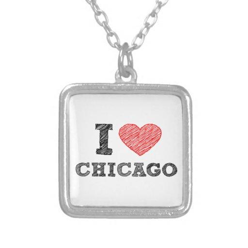 Yo-Amor-Chicago Collar Plateado