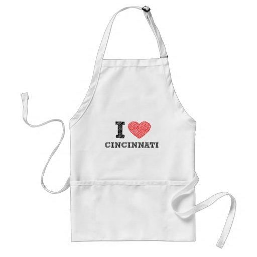 Yo-Amor-Cincinnati Delantal