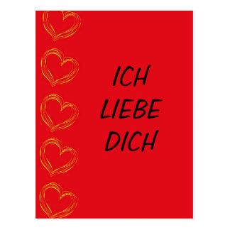 Yo amor Él - tarjeta postal