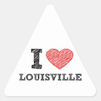 Yo-Amor-Louisville Pegatina Triangular