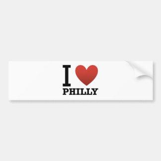yo-amor-philly pegatina para auto