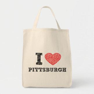Yo-Amor-Pittsburgh Bolsa Lienzo