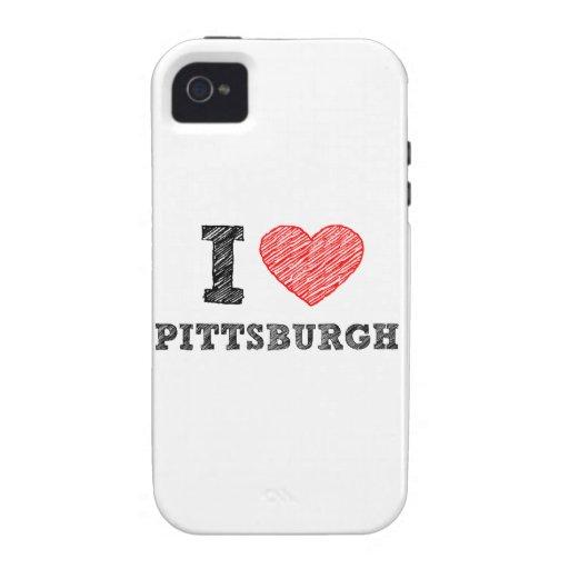Yo-Amor-Pittsburgh iPhone 4 Carcasa