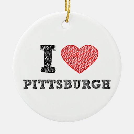 Yo-Amor-Pittsburgh Ornamento Para Reyes Magos