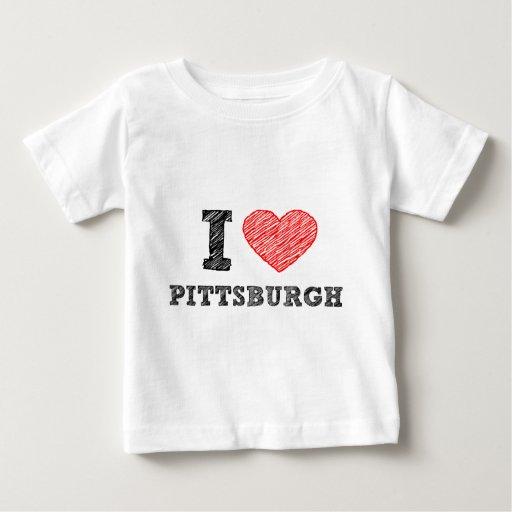 Yo-Amor-Pittsburgh Playera Para Bebé
