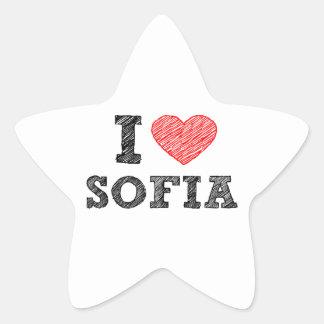 Yo-amor-Sofía Pegatina En Forma De Estrella