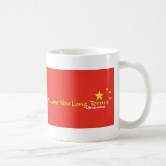 Yo amor usted a largo plazo taza básica blanca