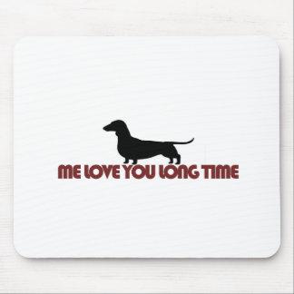 Yo amor usted Dachshund del tiempo largo Tapetes De Ratones