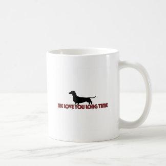 Yo amor usted Dachshund del tiempo largo Taza De Café