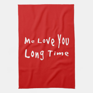 Yo amor usted tiempo largo toalla