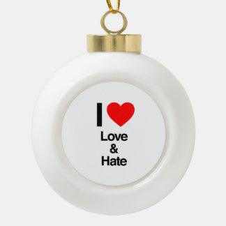 yo amor y odio adorno