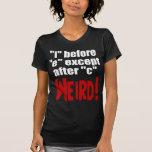 """""""yo"""" antes de lengua inglesa divertida de """"e"""" - camisetas"""