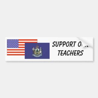 YO--Apoye a nuestros profesores Pegatina Para Auto