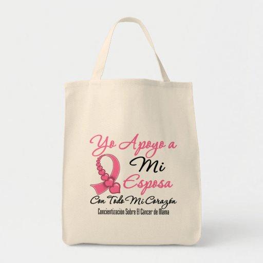 Yo Apoyo a Mi  Esposa - Cáncer de Mama Bags