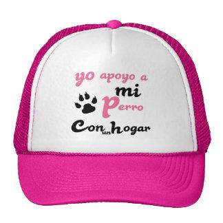 Yo apoyo a mi Perro Trucker Hat