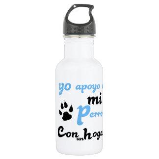 Yo apoyo a mi Perro 18oz Water Bottle