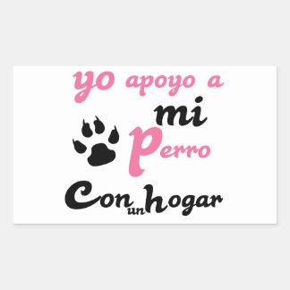 Yo apoyo a mi Perro Rectangular Sticker