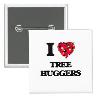 Yo árbol de amor Huggers Pin Cuadrada 5 Cm