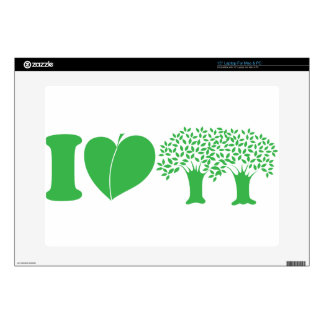 Yo árboles de amor calcomanía para portátil