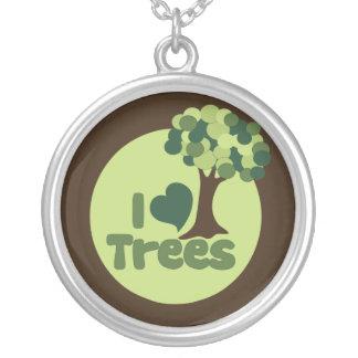 Yo árboles de amor collar personalizado