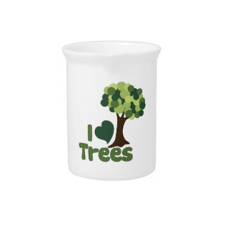 Yo árboles de amor jarra para bebida