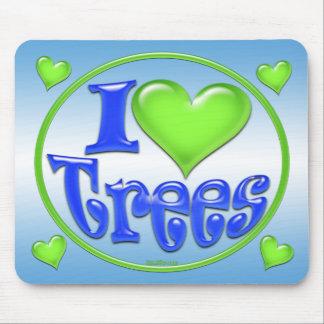 Yo árboles de amor Mousepad