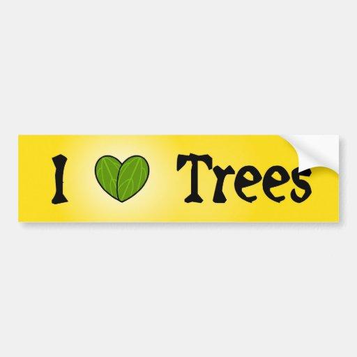 Yo árboles de amor pegatina para auto