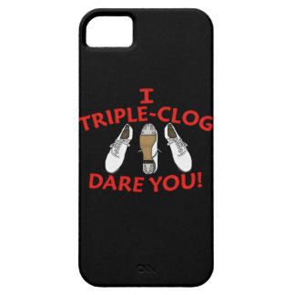 Yo atrevimiento del Triple-Estorbo usted iPhone 5 Case-Mate Cárcasa