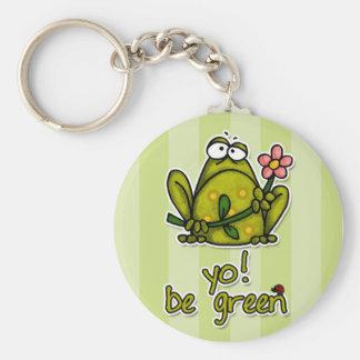 yo be green key chain