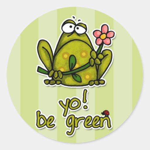 yo! be green stickers