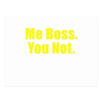 Yo Boss usted no Tarjeta Postal