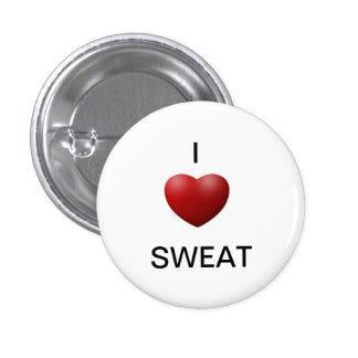 """""""Yo"""" botón sudado corazón Pins"""