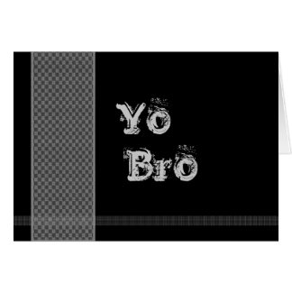 YO BRO Be My Best Man - Black and Silver Checks Stationery Note Card