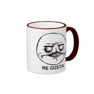 Yo cara cómica que rabia de Gusta Taza De Café