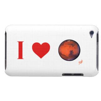 Yo caso del tacto de Marte iPod del corazón iPod Case-Mate Carcasa