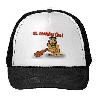 Yo casquillo del Neanderthal Gorros Bordados