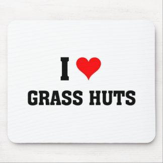 Yo chozas de la hierba de amor tapete de ratón