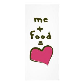 Yo + Comida = amor Plantilla De Lona