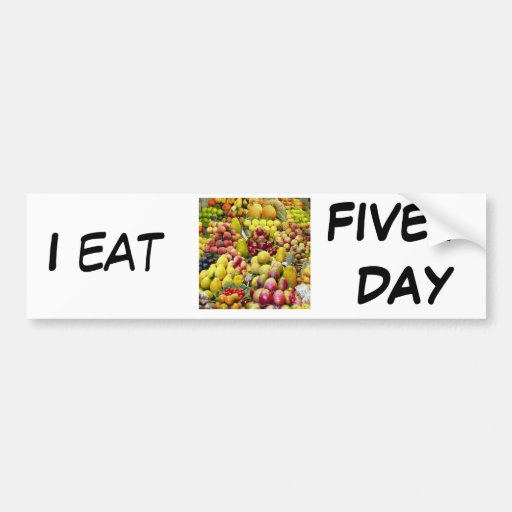 Yo como cinco al día pegatina de parachoque
