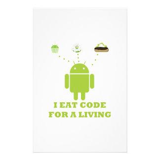 Yo como el código para un analista de programas papelería personalizada