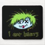 """""""yo como el zombi del tipo de los cerebros"""" (en fo alfombrillas de ratón"""