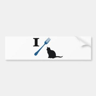 Yo como gatos del gatito pegatina de parachoque