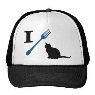 Yo como gatos del gatito gorros bordados