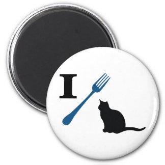 Yo como gatos del gatito imán para frigorífico