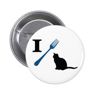 Yo como gatos del gatito pin redondo de 2 pulgadas